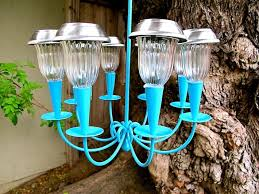 how to make a solar light chandelier
