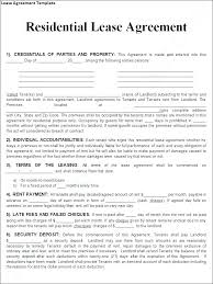 Apartment Rental Agreement Template Word Cool Printable Sample Residential Lease Agreement Template Form Apartment