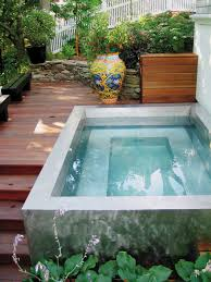 how to build a concrete inground hot tub round designs