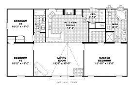 Grand 3 Bed 2 Bath Open Floor Plans Bedroom Plan Homes  HomecaOpen Floor Plan Townhouse