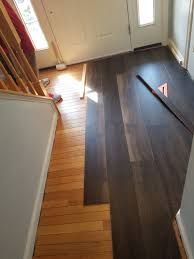 the same process was followed for the area with wood floors we didn t have to rip out any of this win we just installed right over it