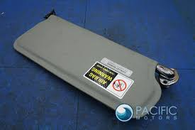left driver sunvisor gray indented leather hide