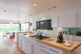 angel ash quartz kitchen contemporary with pendant lights faux leather bar height stools