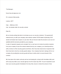 Company Termination Letter Impressive 48 Sample Contract Termination Letters Sample Templates
