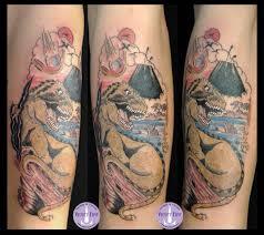 Tatuaggio Old School Violet Fire Tattoo Tatuaggi Maranello