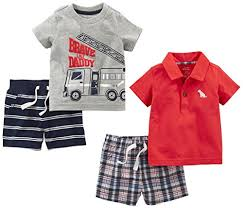 Simple Joys By Carters Baby Boys 4 Piece Playwear Set Red