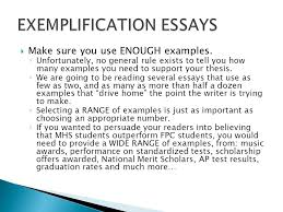 Example Of An Exemplification Essay The Exemplification Essay Ppt Video Online Download