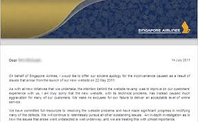 Customer Service Apology Email Singapore Airlines Says Sorry For Dodgy Site Zdnet