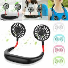 Portable USB Rechargeable <b>Lazy</b> Fan <b>Hanging Neck</b> Mini Cooling ...