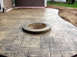 concrete patio with square fire pit. Stamped Concrete Patio With Square Fire Pit Stunning On Home Within Ideas Designs Calico 7 F