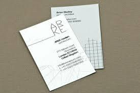 Architect Business Card Business Card Design Architect Elegant