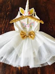 Birthday Girl Unicorn Glitter Tutu Dress First Birthday One