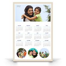 Photo Calander One Page Yearly Customized Wall Photo Calendars 12 X 18