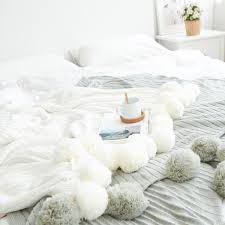 white throw blanket. Unique Blanket Product Thumbnail Image For Pom Throw Blanket With White