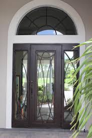 front door with sidelitesThis single Regio iron door with sidelights is a door fit for a