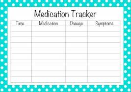 Medication Tracker Form Kozen Jasonkellyphoto Co