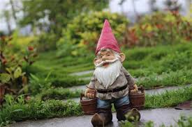poly resin creative garden gnome elf figurine carry water courtyard dwarf statue home garden outdoor decorations ornaments