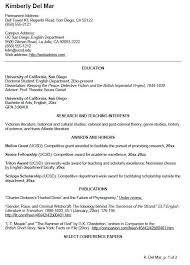 Scholarship Resume Format Amazing UC SAN DIEGO CV EXAMPLE FOR UNDERGRADUATE STUDENTS Letter Of