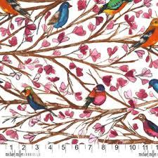 bird print curtains aviary ilration brilliant birds
