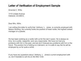 Sample Letter Confirming Employment Proof Of Employment Letter Template For Visa Uk Sample