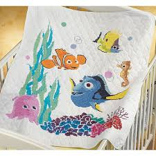 Image result for stamped finding nemo quilt | stamped baby quilt ... & Nemo Baby Quilt Stamped Cross Stitch Kit - Overstock™ Shopping - Big  Discounts on Janlynn Cross Stitch Kits Adamdwight.com