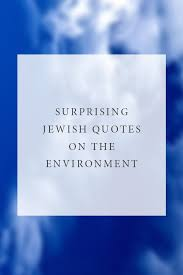 Jewish Quotes Mesmerizing Surprising Jewish Quotes On The Environment Jewish Food Hero