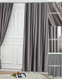 grey bedroom curtains. two panels elegant solid grey bedroom curtains