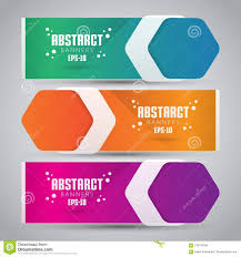 How To Design A Good Banner Three Color Design Banner Web Template With Modern Anad