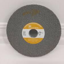 3m Scotch Brite Light Deburring Wheel 3m Scotch Brite 7s Fin Light Deburring Wheel 01662 6 X 1 2 X 1 New