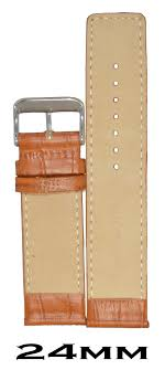 Watch Band Size Chart Kolet 24mm Croco Leather Watch Strap Watch Band Tan 24mm Size Chart Provided In 3rd Image Pack Of 1pc