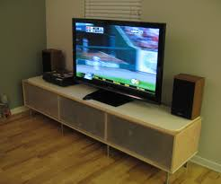 Long Tv Stand With Mount And Glass Cabinet Door Ikea Decofurnish