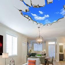 miico 3d creative pvc wall stickers home decor mural art removable sky landscape wall decals