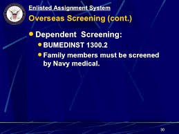 navy overseas screening form topic 1 18 enlisted assignment system