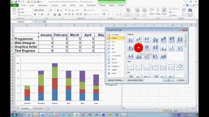 Create A Chart In Excel 2010 How To Create A Stacked Chart In Excel 2010