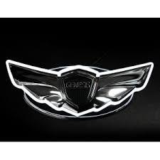 black hyundai genesis logo.  Hyundai 2Way Wing LED Emblem Inside Black Hyundai Genesis Logo A