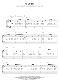 all of me sheet music piano easy all of me sheet music direct