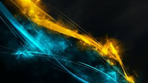 design blue and gold background