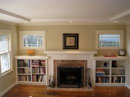 built-in shelves around fireplace | Our Updated Craftsman Style ...