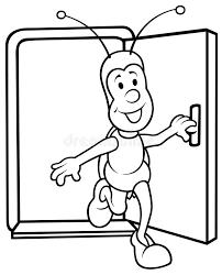 open door drawing. Download Bug And Open Door Stock Vector. Illustration Of Cute - 17834945 Drawing