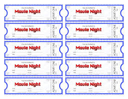 Make Your Own Movie Night Tickets Sheknows 12260033000552 Free