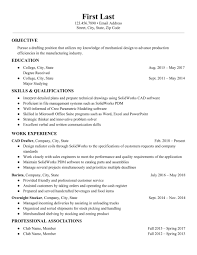 Drafter Resume Solidworks Computer Aided Design Drafter Resume Need