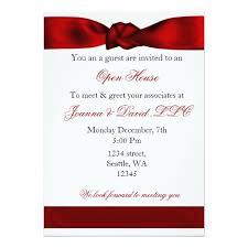 Corporate Invitation Card Format Red Elegant Corporate Party Invitation Zazzle Com