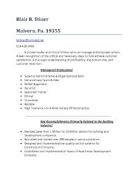 Resume Professional Qualities Therpgmovie