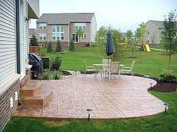 concrete slab patio. Cement Slab Patio Concrete Cost Awesome How To For The Stair . Installation I