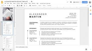 Alexander Martin Google Docs Resume Template 5 Pack Instant Download
