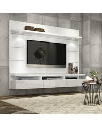 white tv entertainment center. Manhattan Comfort Cabrini Theater Floating Entertainment Center Panel 2.2 In White Tv Stand S