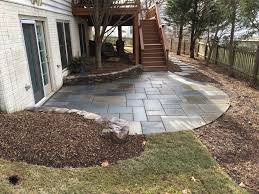 after landscape outdoor stone patio design maryland and virginia