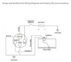 how to wire up a fuel sending unit here is a diagram of the wiring