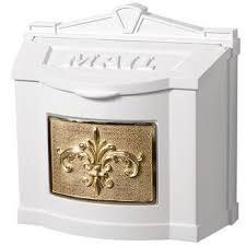 fleur de lis wall mount mailbox