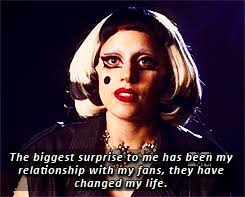lady gaga gif gifs quote 2011 edits A lady tour Monsters fans ...